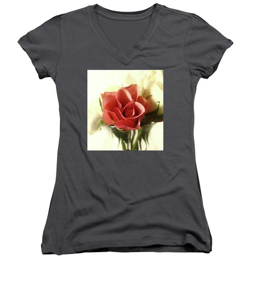 Petite Bouquet Women's V-Neck (Athletic Fit)