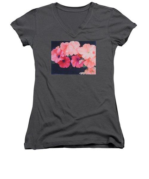 Petunias Women's V-Neck