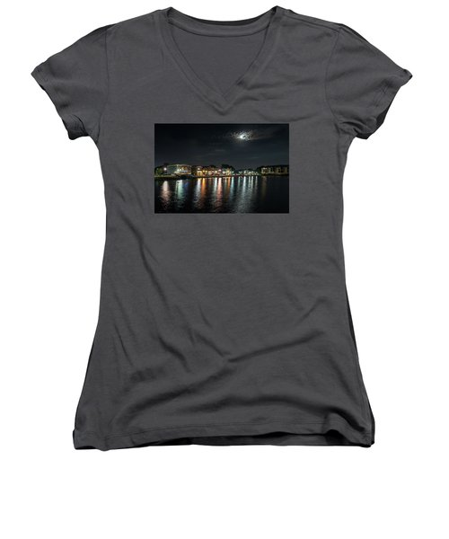 Pewaukee At Night Women's V-Neck (Athletic Fit)
