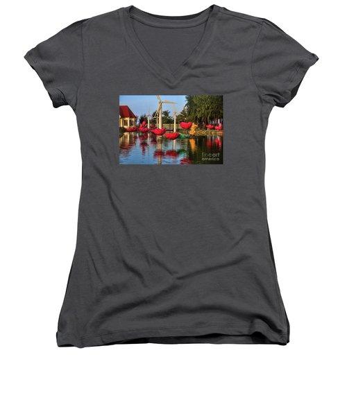 Phan Thiet Sudi Resort 2 Women's V-Neck T-Shirt