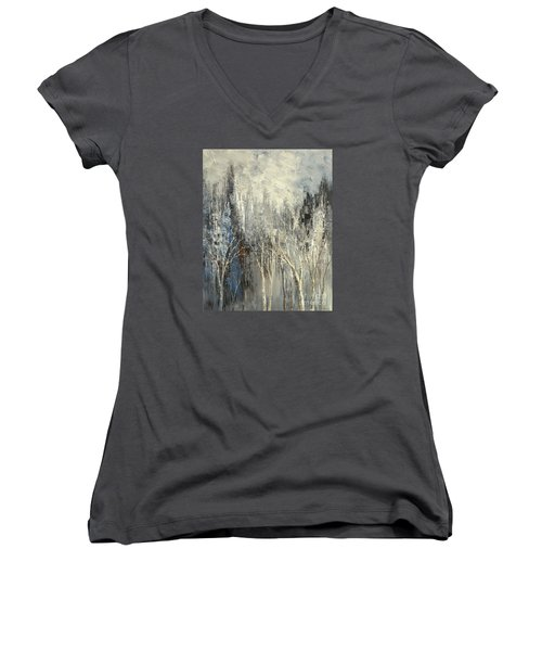 Phantom Glory Women's V-Neck T-Shirt (Junior Cut) by Tatiana Iliina