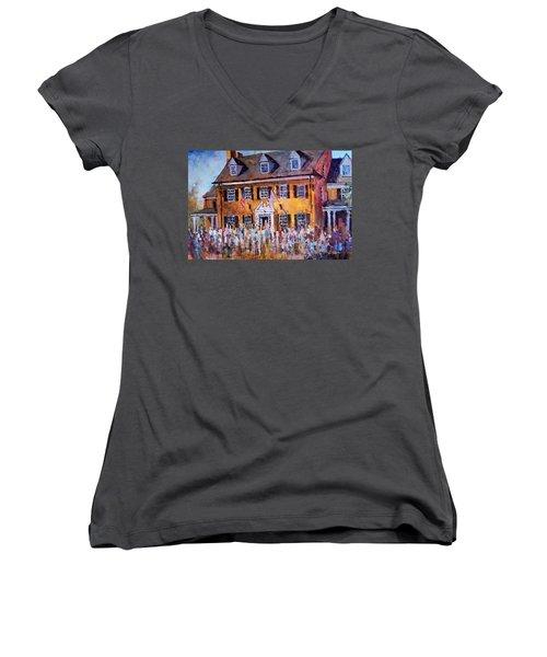 Phi Gamma Delta Unc Women's V-Neck T-Shirt