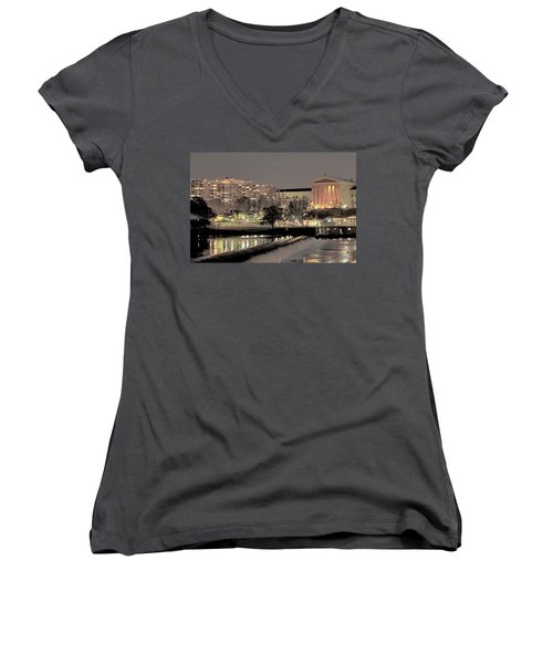 Philadelphia Art Museum In Pastel Women's V-Neck (Athletic Fit)