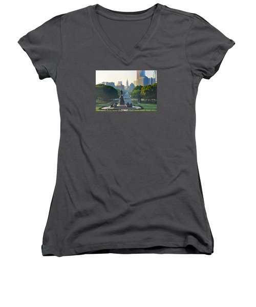 Philadelphia Benjamin Franklin Parkway Women's V-Neck