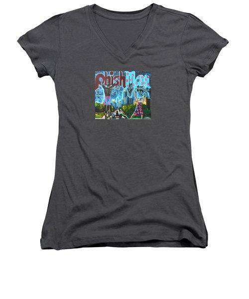 Phishmann Women's V-Neck T-Shirt (Junior Cut) by Kevin J Cooper Artwork