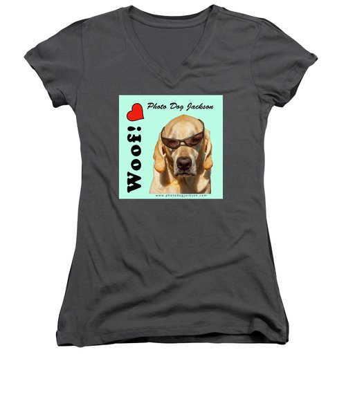 Photo Dog Jackson Mug Women's V-Neck