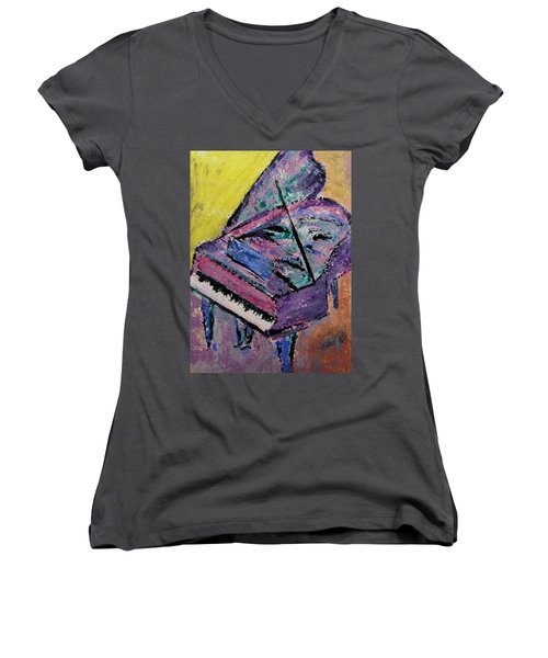 Piano Pink Women's V-Neck (Athletic Fit)
