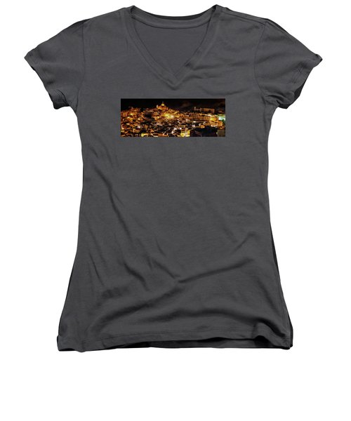 Piazza Armerina At Night Women's V-Neck (Athletic Fit)