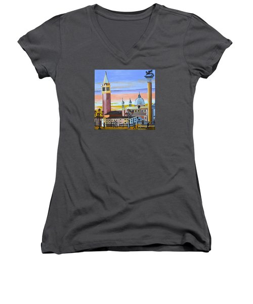 Piazza San Marco Women's V-Neck (Athletic Fit)