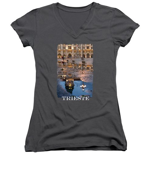 Piazza Unita In Trieste Women's V-Neck T-Shirt