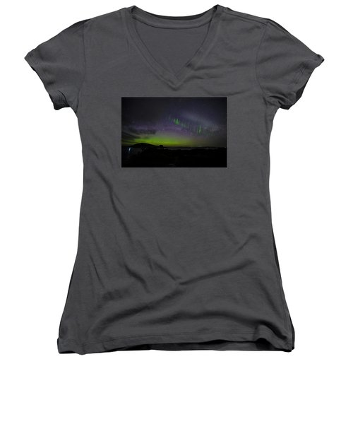 Women's V-Neck T-Shirt (Junior Cut) featuring the photograph Picket Fences by Odille Esmonde-Morgan