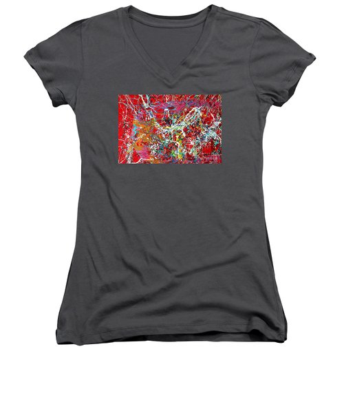Pictographic Interpretation Women's V-Neck T-Shirt