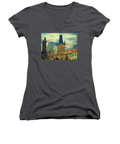 Picturesque - Prague Women's V-Neck