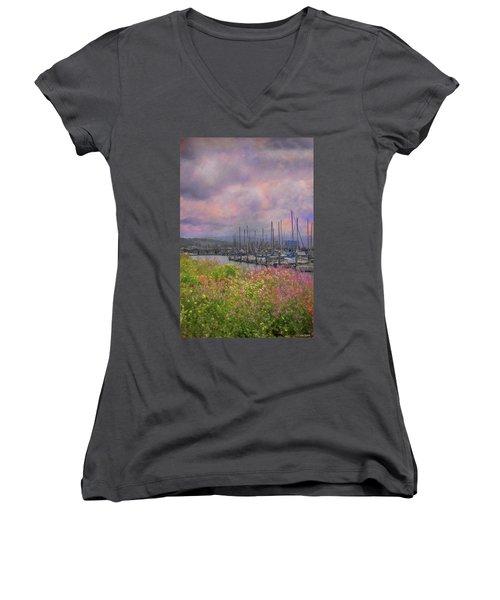 Pillar Point Harbor Women's V-Neck T-Shirt