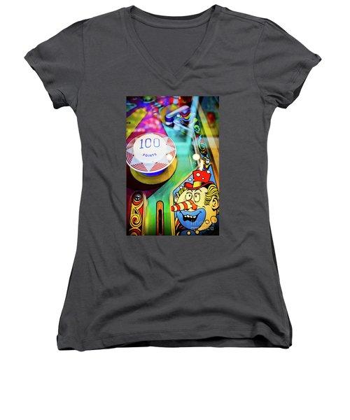 Pinball Art - Clown Women's V-Neck