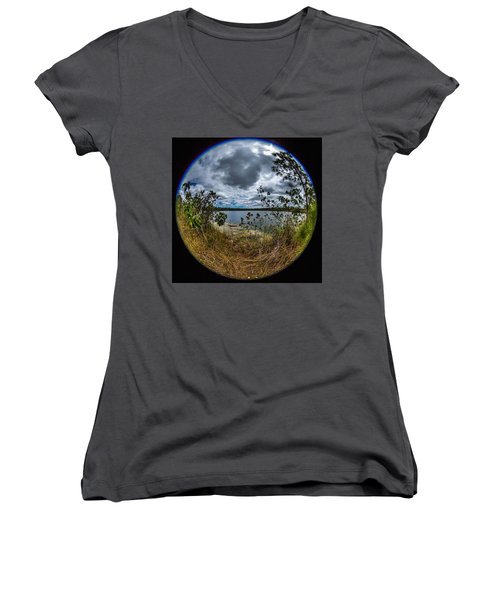 Pine Glades Lake 18 Women's V-Neck T-Shirt
