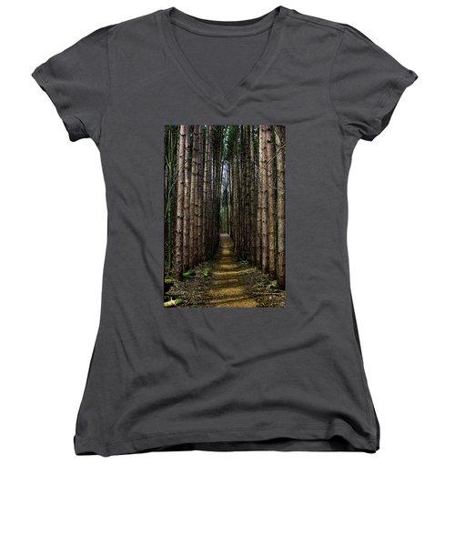 Pine Path  Women's V-Neck T-Shirt
