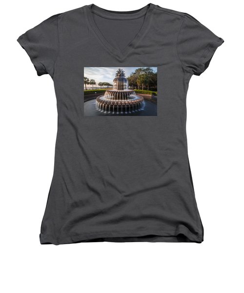 Pineapple Fountain Charleston Sunrise Women's V-Neck