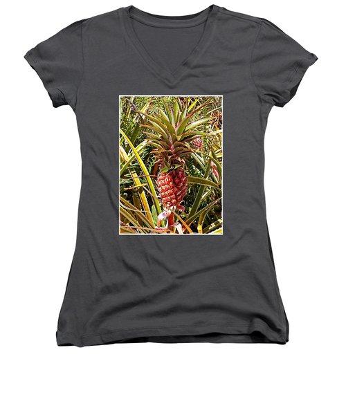 Pineapple  Women's V-Neck (Athletic Fit)