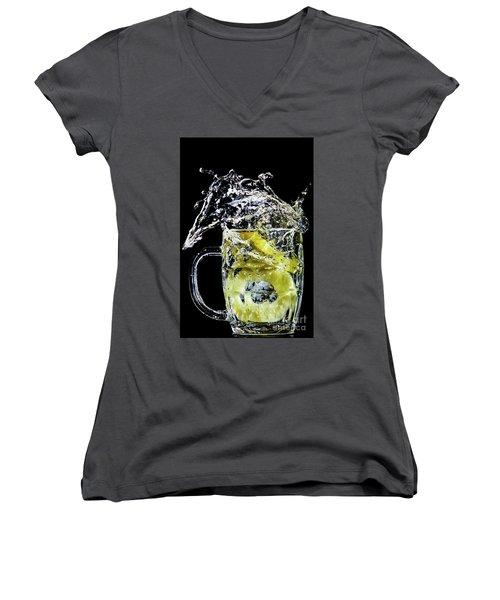 Pineapple Splash Women's V-Neck