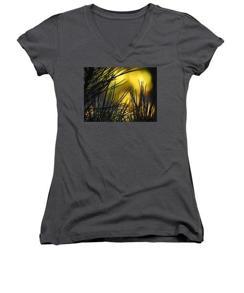 Pineview Women's V-Neck T-Shirt (Junior Cut) by Betty-Anne McDonald