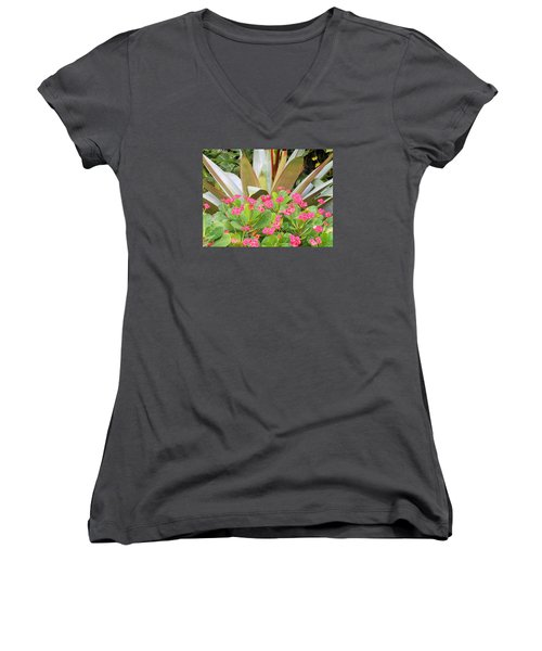 Pink And Spiky Women's V-Neck T-Shirt