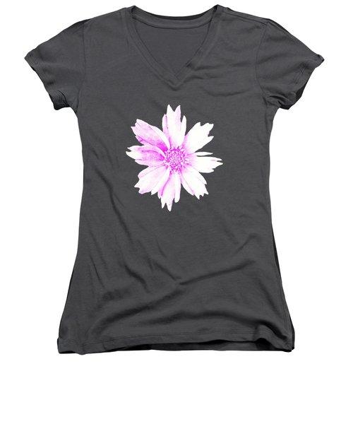 Pink Bloom Women's V-Neck
