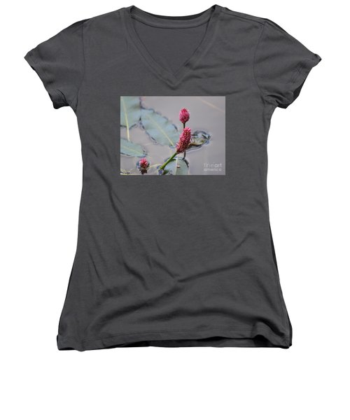 Pink Lily Pad Women's V-Neck