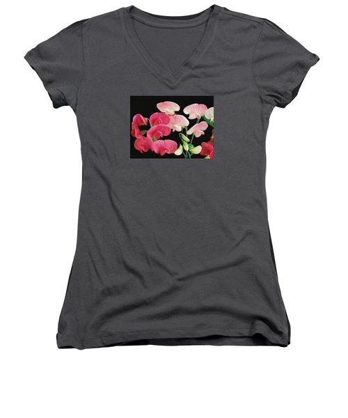 Pink Petals Women's V-Neck