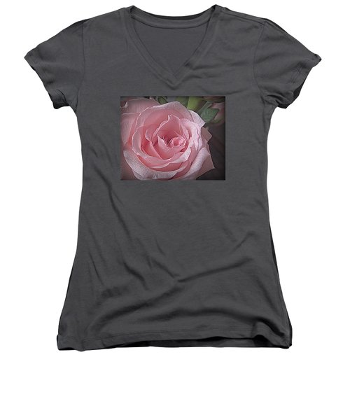 Pink Rose Bliss Women's V-Neck T-Shirt