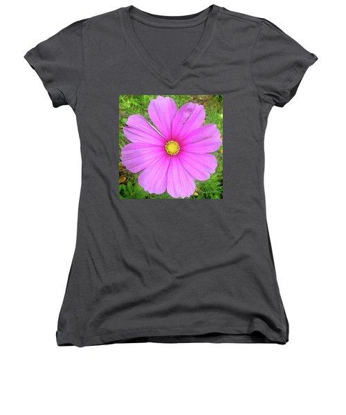 Pink Women's V-Neck T-Shirt (Junior Cut)