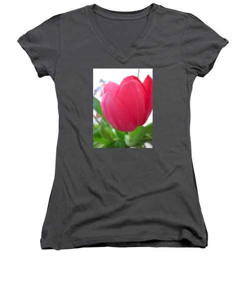 Pink Tulip Women's V-Neck (Athletic Fit)