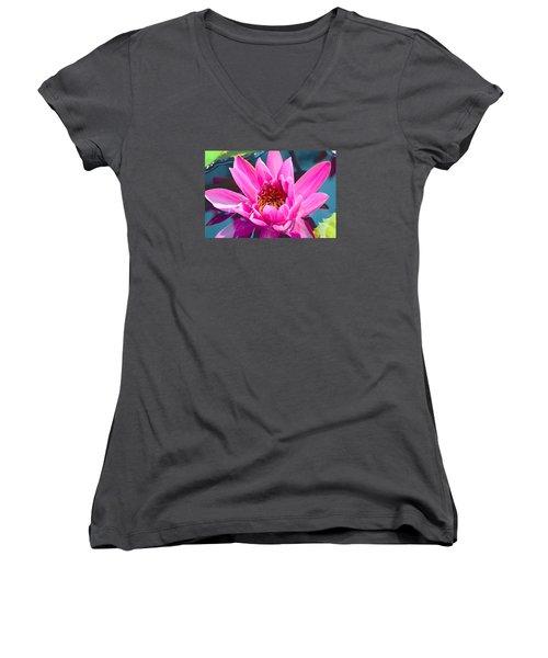 Pink Wonder Women's V-Neck T-Shirt (Junior Cut) by Deborah  Crew-Johnson