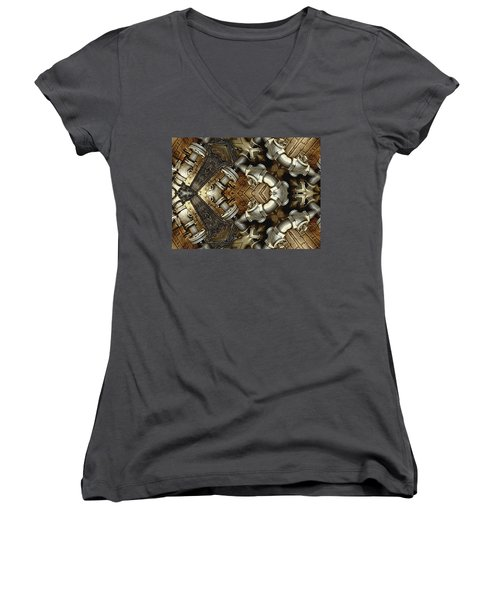 Pipe Dreams Women's V-Neck T-Shirt (Junior Cut) by Wendy J St Christopher