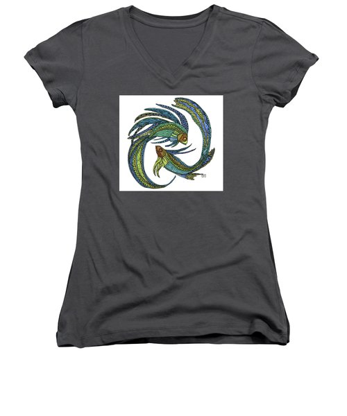 Pisces Women's V-Neck (Athletic Fit)