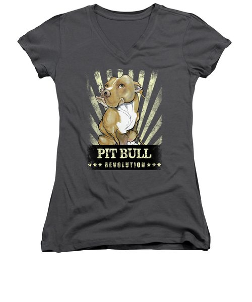 Pit Bull Revolution Women's V-Neck T-Shirt