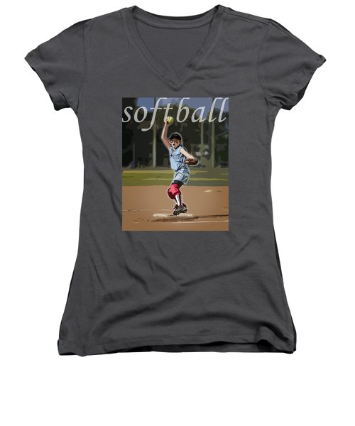 Pitcher Women's V-Neck (Athletic Fit)