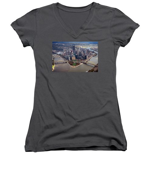 Pittsburgh 8 In Color  Women's V-Neck