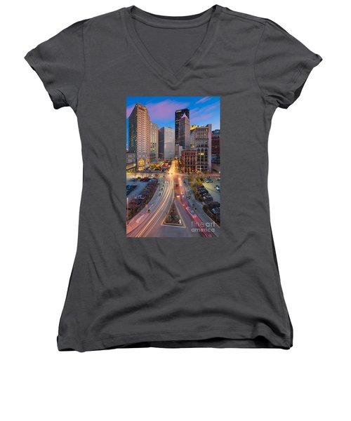 Pittsburgh Cultural District Women's V-Neck T-Shirt
