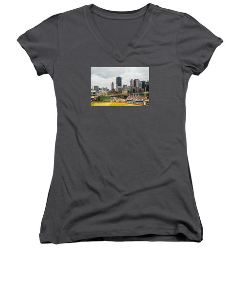 Pittsburgh/pnc Park - 6986 Women's V-Neck T-Shirt