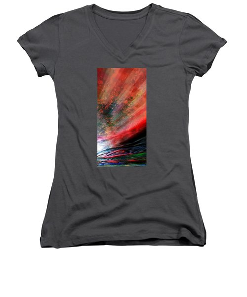 Pittura Digital Ghibill25e Women's V-Neck T-Shirt (Junior Cut) by Sheila Mcdonald