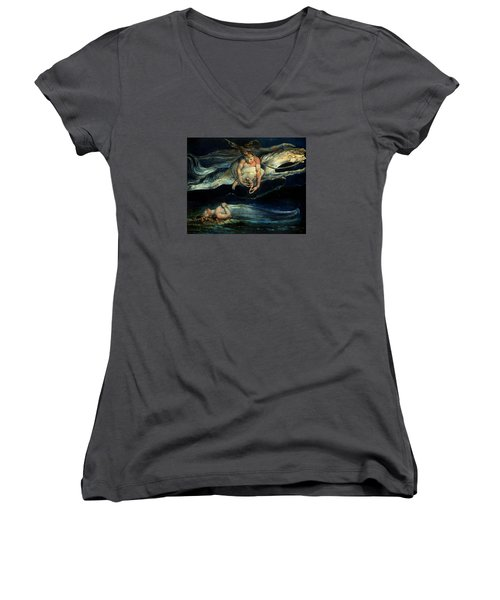 Pity Women's V-Neck T-Shirt (Junior Cut) by William Blake