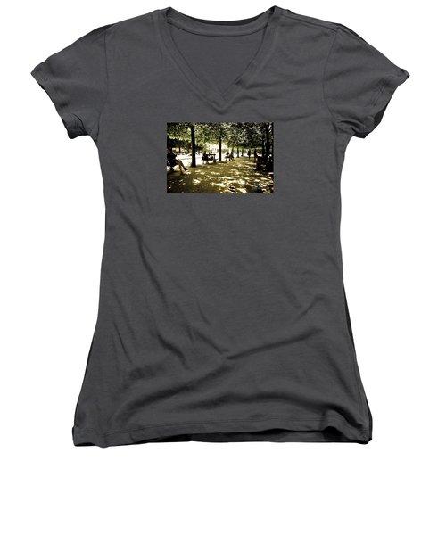 Place De Vosges Women's V-Neck T-Shirt (Junior Cut) by Perry Van Munster