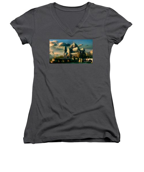 Places Angels Dwell Painted In Bleak Women's V-Neck