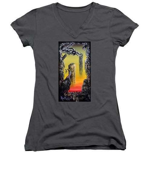 Planet Of Anomalies Women's V-Neck