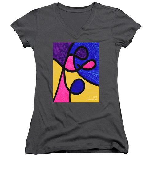 Playful Women's V-Neck T-Shirt