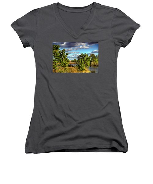 Pleasure House Point Natural Area  Women's V-Neck