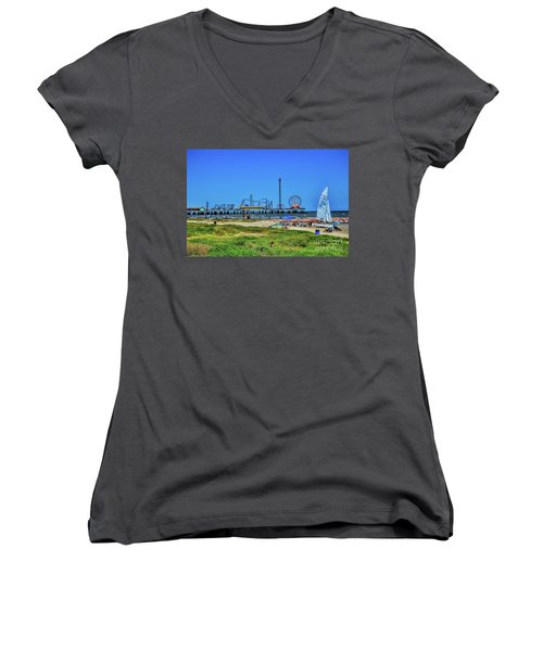 Pleasure Pier Sunny Day Women's V-Neck (Athletic Fit)