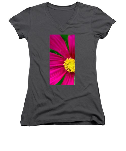 Plink Flower Closeup Women's V-Neck (Athletic Fit)