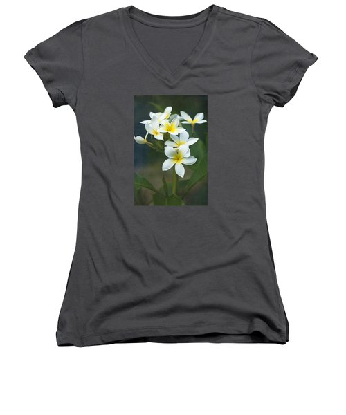 Plumerias On A Cloudy Day Women's V-Neck (Athletic Fit)